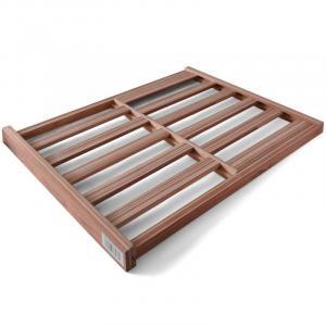 Dřevěná police – mřížka do chladničky na víno, 58 x 47 cm