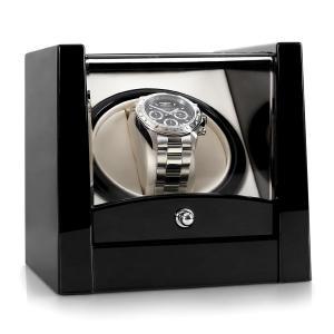 Klarstein 8PT1S, pohyblivý stojan na hodinky, 1hodinky, černý klavírní lak