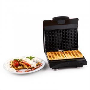 Klarstein Waffle Buddy, 700 W, 2 plotýnky, nerezová ocel, vaflovač, červený