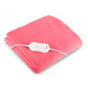 Klarstein Winter Dreams, vyhřívaná deka, 60 W, 150 x 80 cm, růžová, praní v pračce