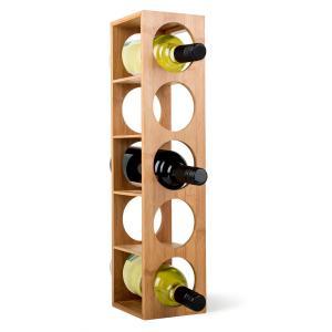 Klarstein Rack No. 3, bambusový regál na víno, stohovatelný