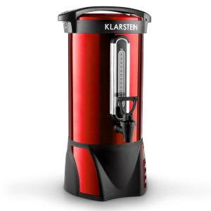Klarstein Big-Bacchus, 8,8 l, nádoba na svařené víno, nerezová ocel, červená, přenosná