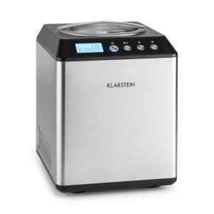 Klarstein Vanilla Sky, 180W, stříbrný, zmrzlinovač s kompresorem, nerezová ocel, 2 l