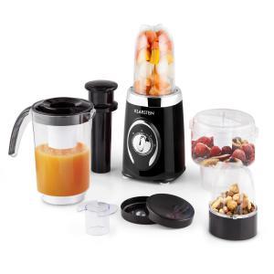 Klarstein Fruizooka, černý mixér na přípravu smoothie, multifunkční zařízení 4 v 1, 220 W