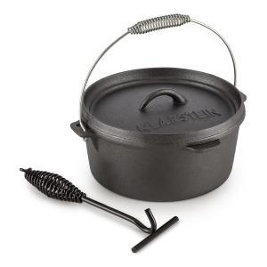 Klarstein Hotrod 85, černý, litinový hrnec, barbecue hrnec, 9 qt / 8,5 litru, litina