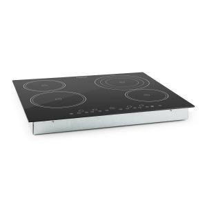 Klarstein Virtuoso, 6500 W, 59 x 52 cm, keramická varná deska, varná deska pro zabudování, 4 zóny, sklokeramika