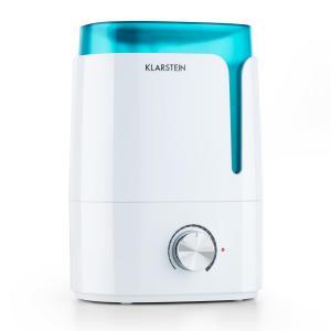 Klarstein Stavanger, bílý/tyrkysový zvlhčovač vzduchu, aromatická funkce, ultrazvuk, 3,5 l