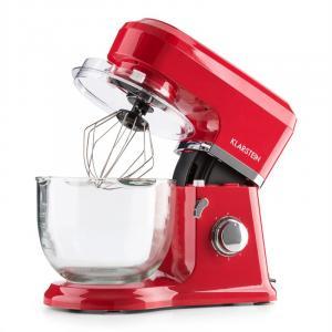 Klarstein Allegra Rossa, červený, kuchyňský robot, 800 W, 3 l, skleněná mísa