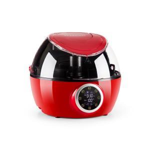 Klarstein VitAir Twist horkovzdušná fritéza, 4 v 1, multifunkční varný automat, 1230 W, červená