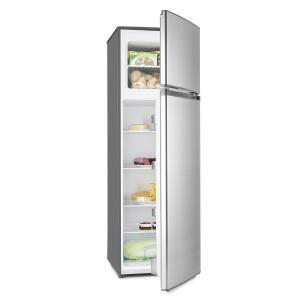 Klarstein Height Cool Black, stříbrná, kombinace chladničky s mrazákem, 199/53 l, 2-dveřová, A ++