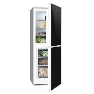 Klarstein Luminance Frost kombinovaná chladnička s mrazničkou 98/52 l A +++ skleněný předek, černá barva