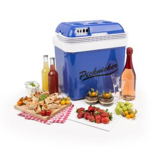 Klarstein Big Picknicker, modrý, termo chladicí box, 24 l, A ++, AC, DC, auto