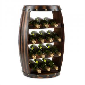 Klarstein Barrica dřevěný regál na víno, stojan na láhve, 14 lahví, jedle
