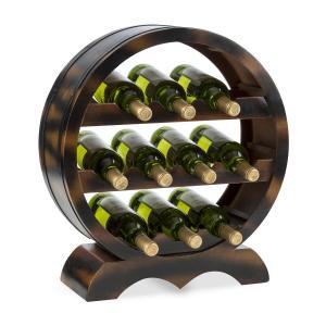 Klarstein Barrica dřevěný regál na víno, stojan na láhve, 10 lahví, jedle