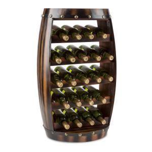 Klarstein Barrica dřevěný regál na víno, stojan na láhve, 22 lahví, jedle