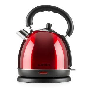 Klarstein Teatime vařič na vodu čajová konvice 3000 W 1,8 l ušlechtilá ocel rubínově červená