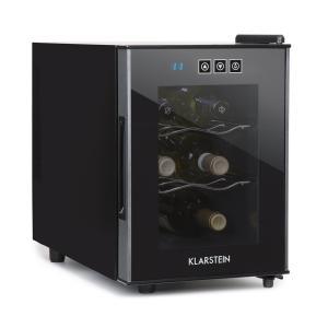Cerese vinotéka, 16 l 6 lahví, dotyková, 38 dB, skleněné dveře, černá barva