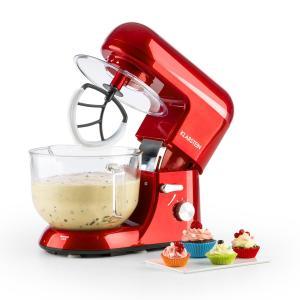 Bella Rossa 2G, kuchyňský robot, 1200 W, 2,5 / 5 l, skleněná miska, červená barva