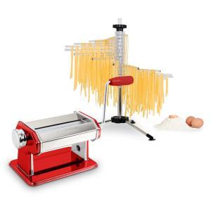 Klarstein Pasta Set, zařízení na přípravu těstovin, červené, sušička těstovin Verona