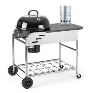 Klarstein Meatpacker Set XXL gril na dřevěné uhlí BBQ smoker + elektrický zapalovač
