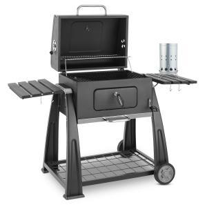 Klarstein Bigfoot Set gril na dřevěné uhlí BBQ smoker + elektrický zapalovač