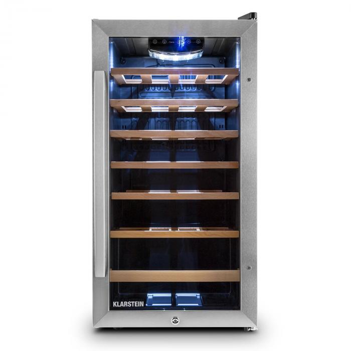 Vivo Vino 26, 88 litrů, chladicí vinotéka, 26 lahví, nerezová ocel, LED