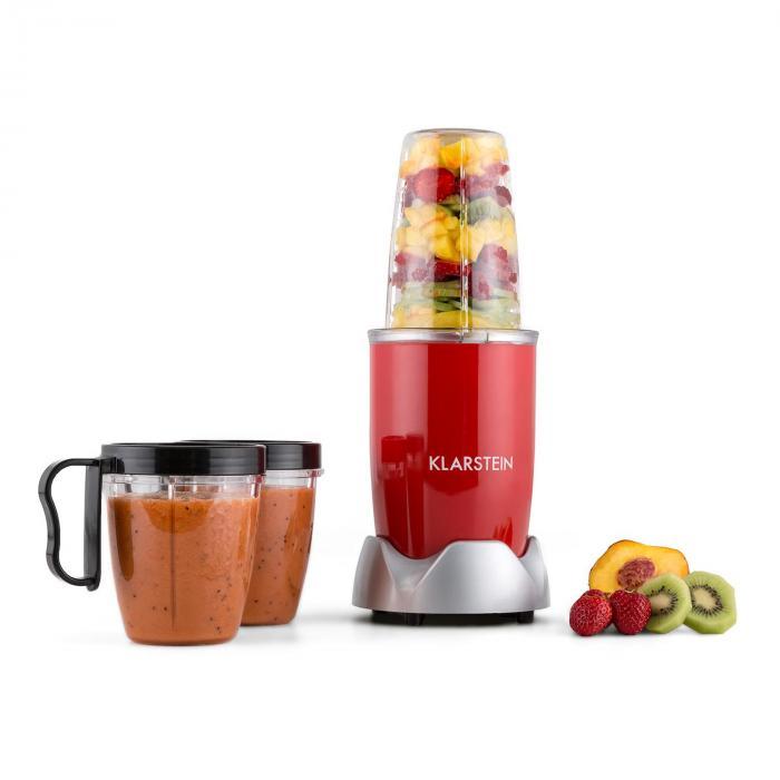 NutriRocket, 700 W, červený, multifunkční mixér / smoothie, desetidílný