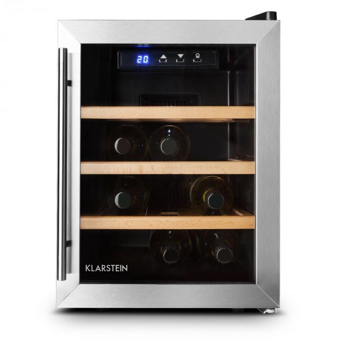 Reserva 12 Uno, 33 litrů, chladící vinotéka, 12 lahví, nerezová ocel, LED